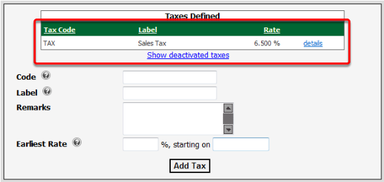 Tax Added