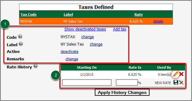 Viewing Tax Details