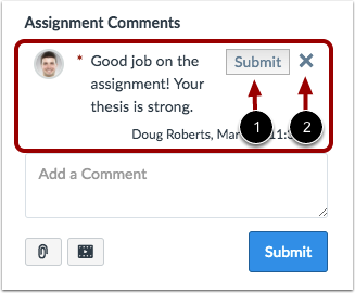 View Draft Comment