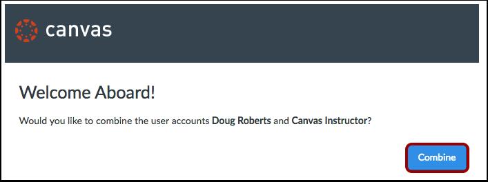 Confirm Account Merger