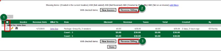 Reverse Billing