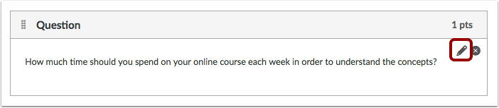 Edit Multiple Choice Question