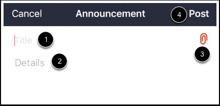 Create Announcement