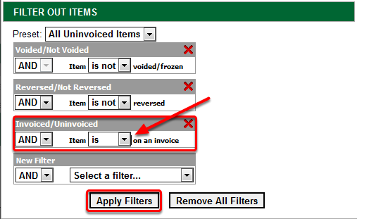 Filter Out Items