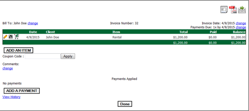 New Invoice - Cont.