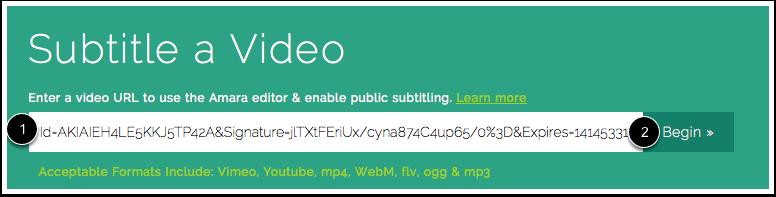 Enter Video URL