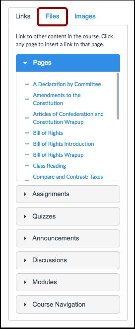 Open Files Tab