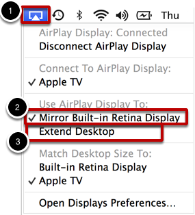 Choose Between Mirroring and Extending Display