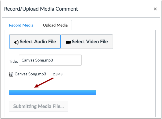 Upload Audio File