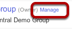 "Click ""Manage"" Next to the Group You Want to Edit"