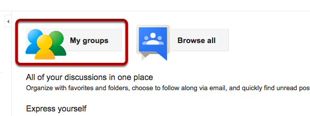 """Click on """"My groups"""""""