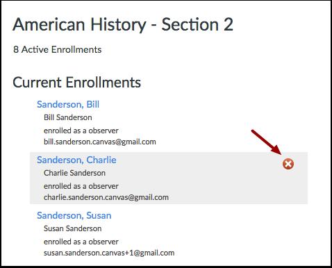 Delete Enrollment