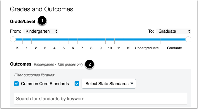 Add Grades and Outcomes