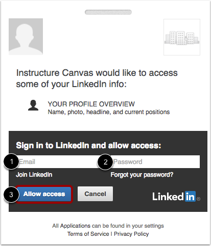 Log in to LinkedIn