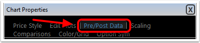3. Select Pre/Post data