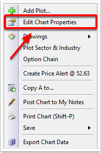 2. Select Edit Chart Properties from the menu.