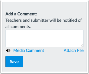 Communicate through Assignment Comments