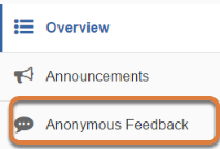 Go to Anonymous Feedback.