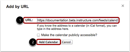 Kalender toevoegen per