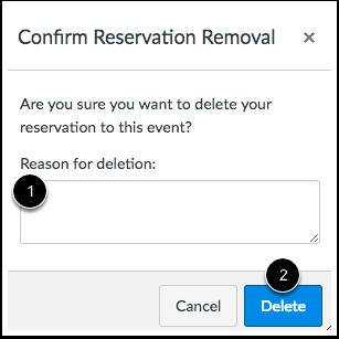 Delete Reservation