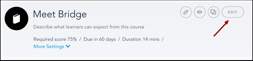 Modifier le cours