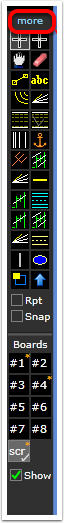 If the drawing tool menu appears in collapsed mode click the More button to expand it.