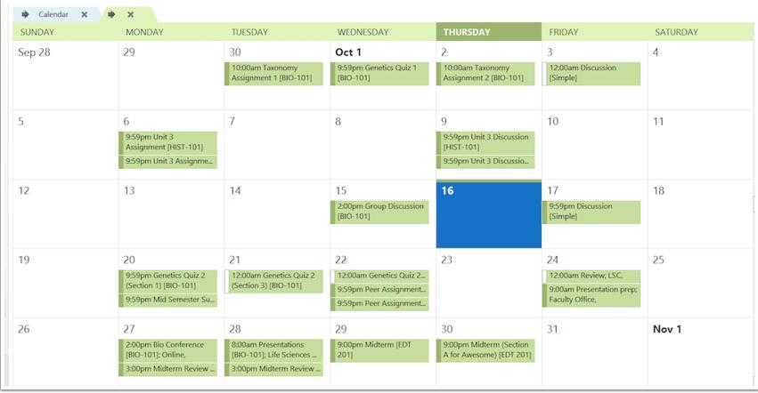 Ver calendario suscrito