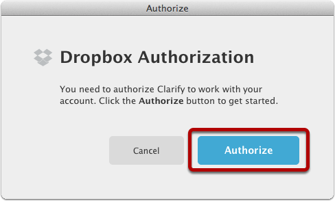 Authorize Clarify