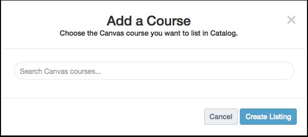 Catalog Listings