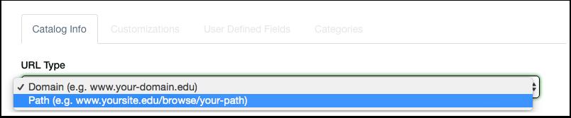 Select URL Type