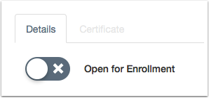 Set Enrollment Status