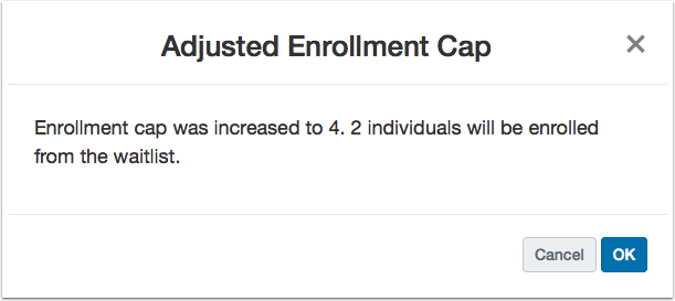Increase Enrollment Cap