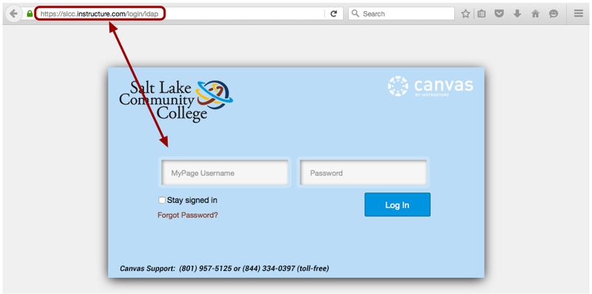 Acceder a Canvas por medio de la URL de Canvas