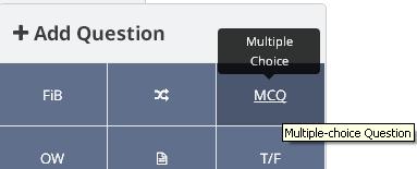 Adding a MCQ