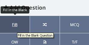 Adding a Fill In The Blank (FiB) question