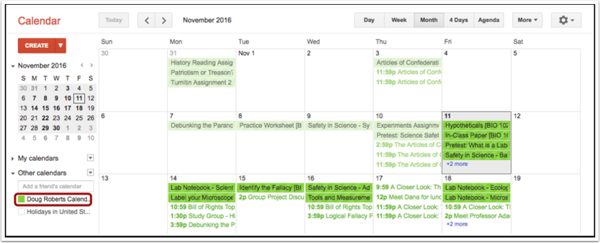 Visualizar Agenda Inscrita