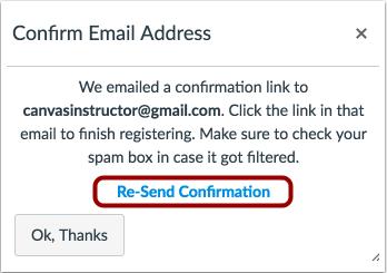 Confirmar dirección de e-mail