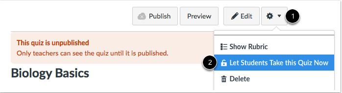 Desbloquear la evaluación