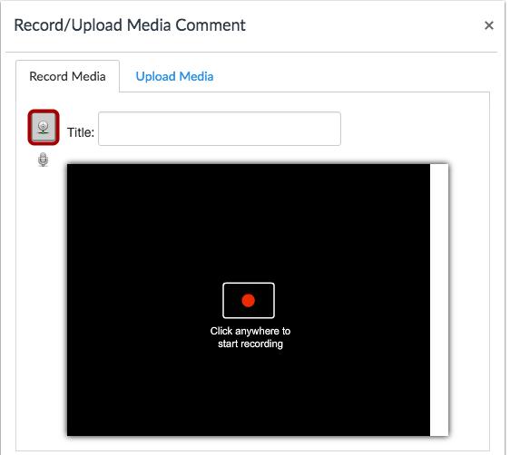 Seleccionar opción de grabación de video