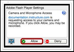 允许Adobe Flash播放器访问