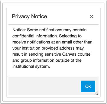 查看隐私通知的警告