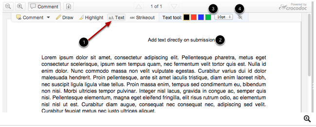 Usar herramienta de texto