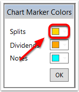 3.  Click the Color Box and select a new Color for the chart marker
