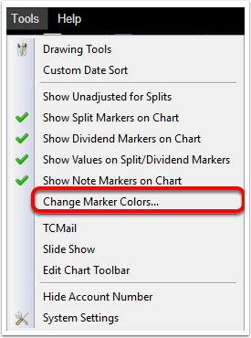 2. Click Change Marker Colors...