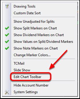 2. Select Edit Chart Toolbar.