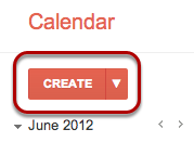 "In your Google Calendar, click the ""Create"" button."