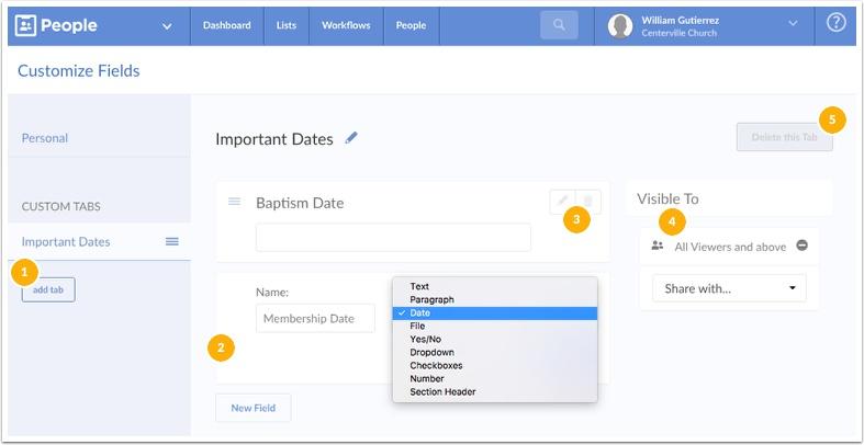 customize fields information