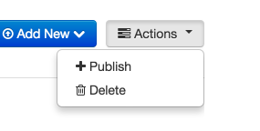 The Actions Button