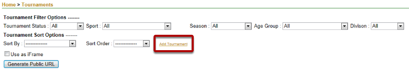 Add a Tournament