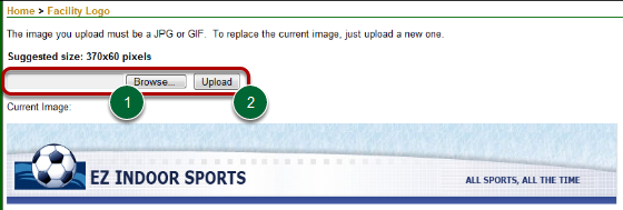Uploading a Logo